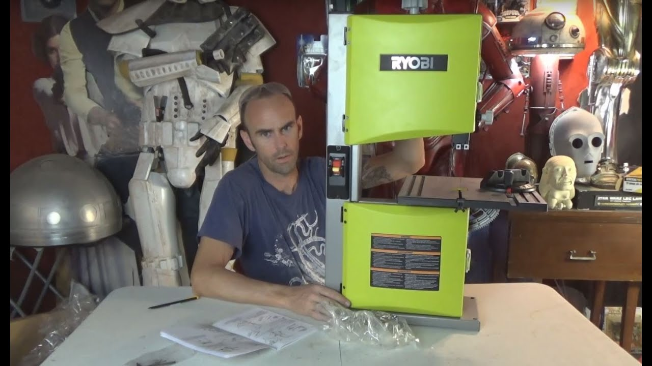Ryobi band saw unboxing youtube ryobi band saw unboxing greentooth Gallery