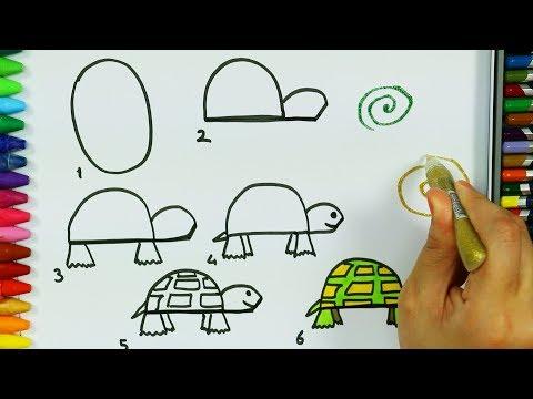 Как нарисовать черепаху и муравья