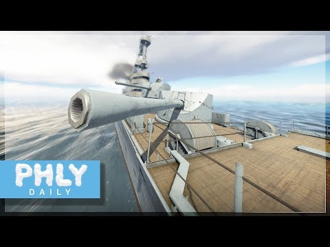 BIGGEST NAVAL GUNS  180MM Soviet Fridge Launchers War Thunder Naval Forces Gameplay