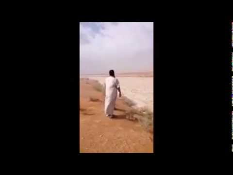 River of Ice  through Saudi Arabia with hail the size of golf balls