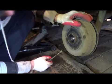 Как снять задний барабан на рено логан