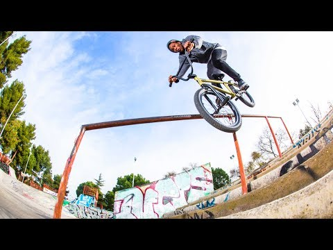 One Shot: Courage Adams' BMX Line in Madrid | Lined Up