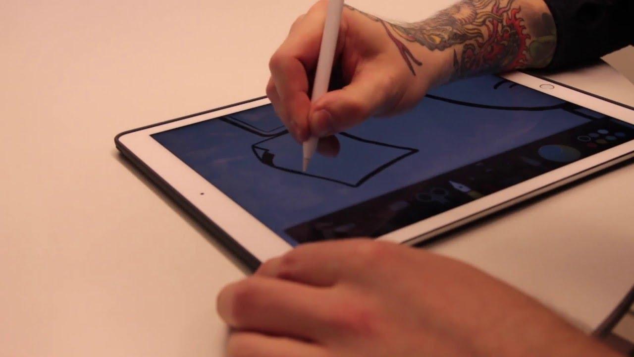 Slik er det å tegne på iPad Pro