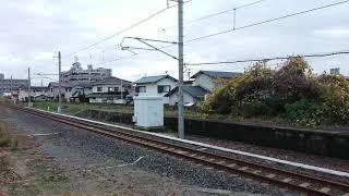 JR九州 BEC819系 ZG301/302編成 甲種輸送 長府駅通過