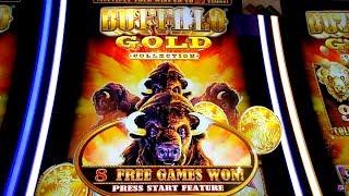 Buffalo Gold Bonus & Play - 1c Aristocrat Video Slot in San Manuel Casino