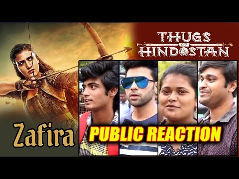 Thugs Of Hindostan ZAFIRA First Look  PUBLIC REACTION  Aamir Khan, Amitabh, Katrina, Fatima