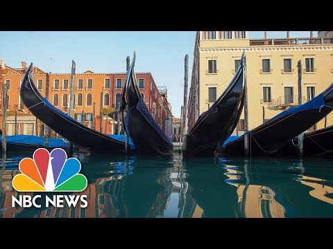 Canals In Venice Are Almost Deserted As Italy's COVID-19 Lockdown Continues | NBC News