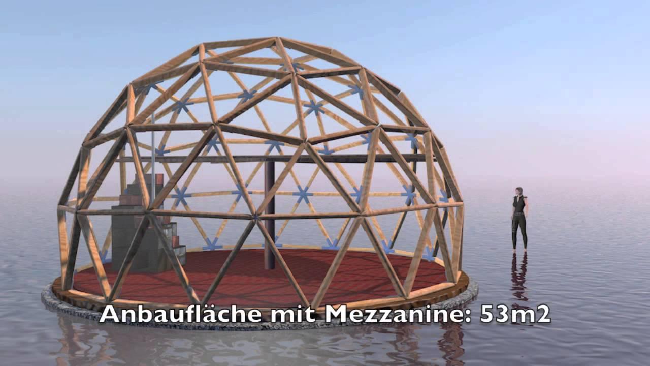 Geodätische Kuppel Selber Bauen geodätische-kuppel frequenz 3 - youtube