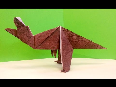 How To Make An Origami TRex