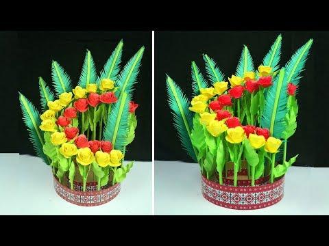 Paper Flower Home Decoration Idea | DIY Simple Home Decor | Paper Craft Flowers