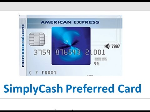 American Express SimplyCash Cash Back Credit Cards   YouTube