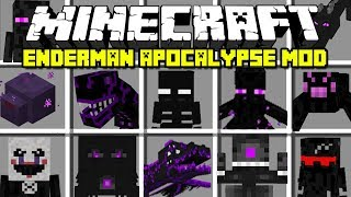 Minecraft ENDERMAN APOCALYPSE MOD / FIGHT OFF ALL ENDERMANS AND SURVIVE! | Minecraft Modded Minigame