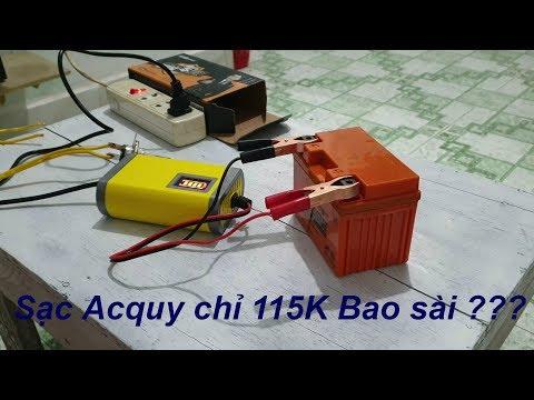 Sạc Bình Acquy Xe Máy Tiện Lợi - Charging Motorbike Battery   ThanhThuanVlogs
