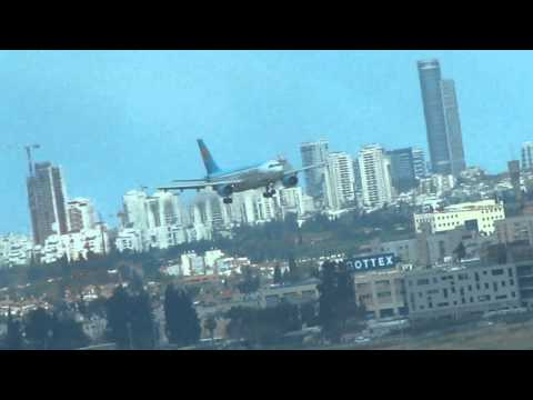 Uzbekistan Airlines Airbus 310 lands at Bengurion airport-Israel