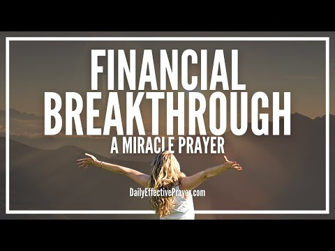 Prayer For Financial Breakthrough | Powerful Financial Miracle Prayers