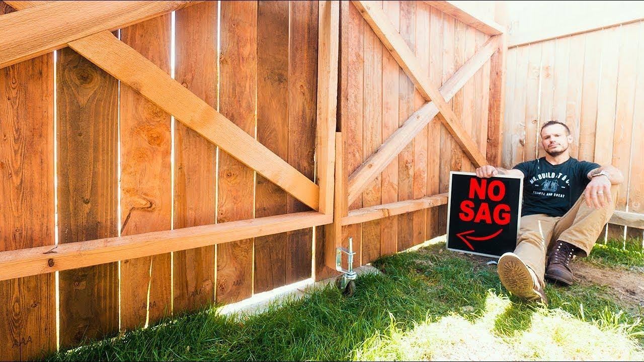 how to build a fence gate no sag