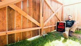 How to build a Fence Gate (No Sag)