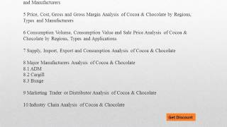 Global Cocoa & Chocolate Market Research and Analysis from 2016 to 2021