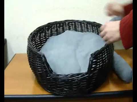 Плетем домик для кота из газетных трубочек! 2 часть! Запись .