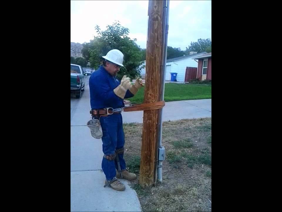 How To Climb A Utility Pole Youtube