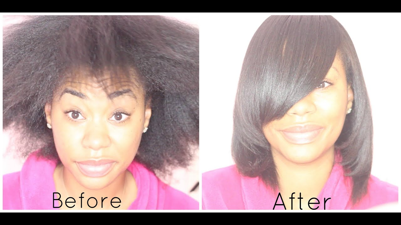 How I SILK PRESS my NATURAL HAIR  ChimereNicole  YouTube