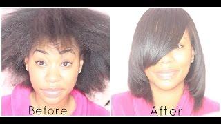How I SILK PRESS my NATURAL HAIR - ChimereNicole