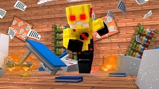 Minecraft: FLASH REVERSO DESTRUIU A ESCOLA! (ESCOLINHA CARTOON)