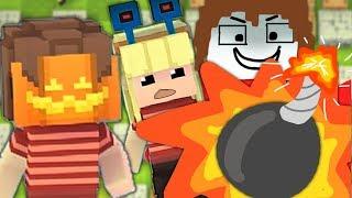 Manu, Paluten und Maudado spielen Bomberman