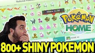 800+ Shiny Pokemon Transferred into Pokemon Home!