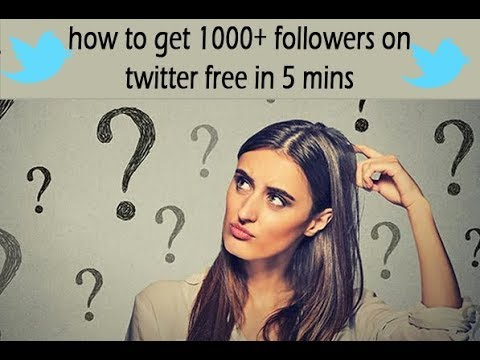how to get 1000+ followers on twitter free in 5 mins | how to increase followers on twitter