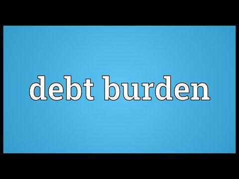 Debt burden Meaning
