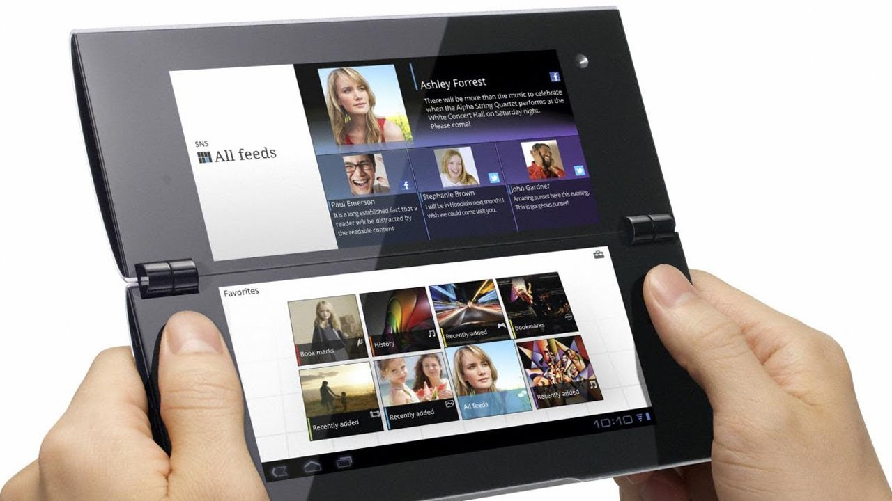Sony Tablet P: Dual-Screen Foldable Tablet from CES 2012 ...