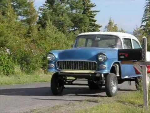 Kevin\'s 55 Gasser test drive. Chassis built by Norm\'s Speed Shop ...
