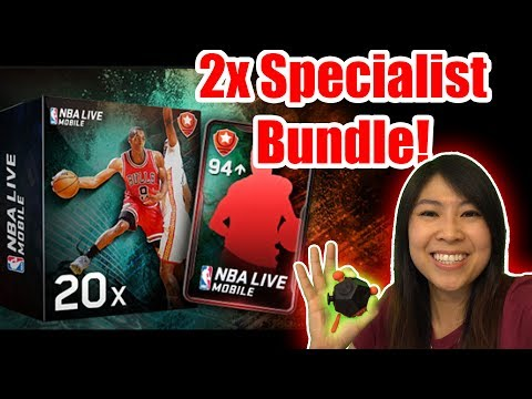 DOUBLE SPECIALIST BUNDLE OPENING! 95+ OVR | NBA LIVE MOBILE