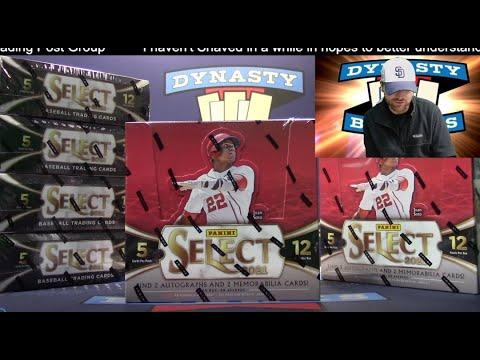 2021 Select Baseball Card 6 Box Half Case Break #7   Sports Cards