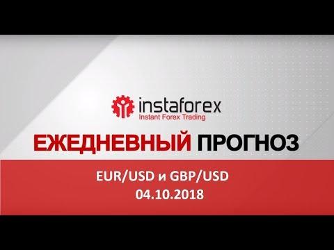 EUR/USD и GBP/USD: прогноз на 04.10.2018 от Максима Магдалинина