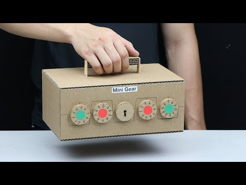 How to Make Suitcase Combination Key and Passcode from Cardboard