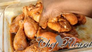 Chef Ricardo Cooking Shows - Ginger & Garlic Fried Chicken Marinated Before New Years Eve Full Recipe