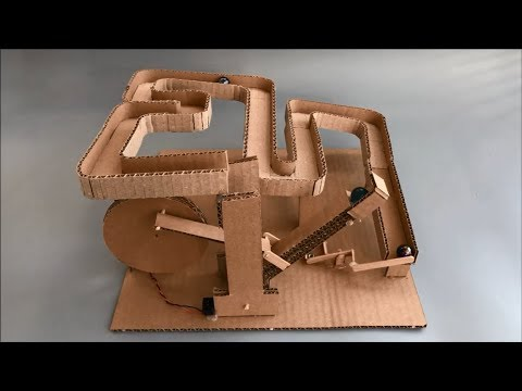 How to Make Marble Lift Mechanisms - Cardboard Toy