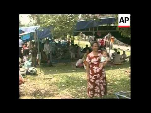 Thousands of refugees shelter in camp in east Aceh