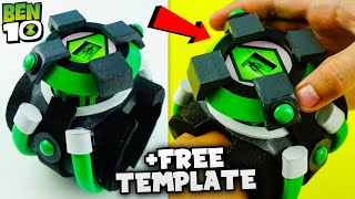 How To Make Bęn 10 Reboot Omnitrix | Functional Alien Interface +Free Template! DIY Carboard Watch
