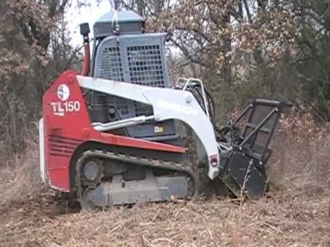 Forestry Mulcher For Sale >> Takeuchi TL150 Forestry Mulcher - YouTube