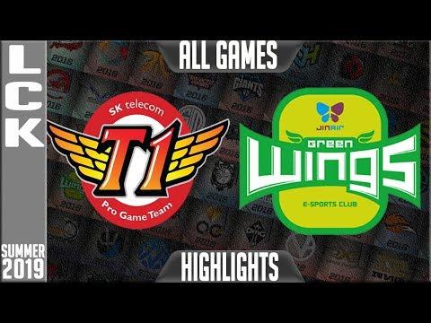 SKT vs JAG Highlights ALL GAMES | LCK Summer 2019 Week 1 Day 3 | SK Telecom T1 vs Jin Air Greenwings
