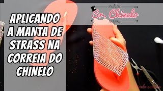 Repeat youtube video Como aplicar a manta de strass na correia do chinelo