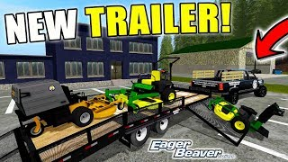 MOWING MONDAY | PURCHASED A NEW TRAILER | EAGER BEAVER | FARMING SIMULATOR 2017