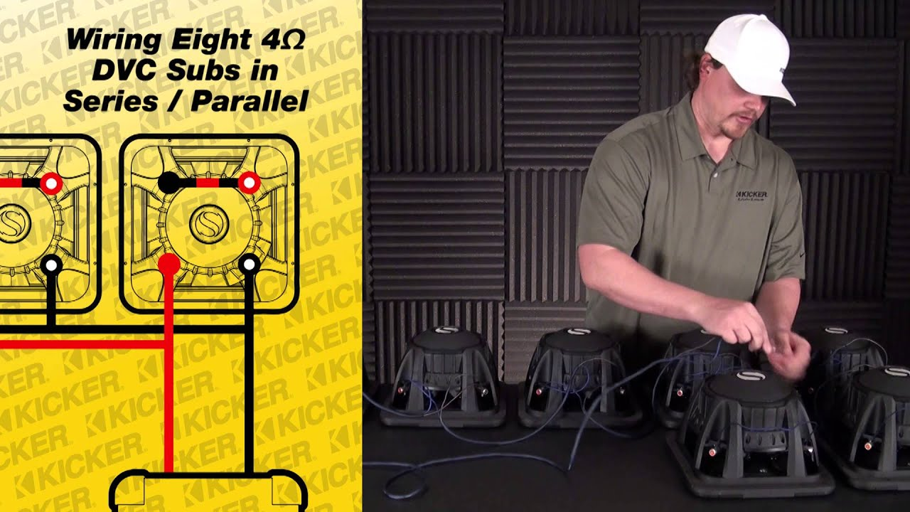Subwoofer Wiring: 8 DVC Subs in Series Parallel - YouTube