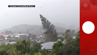 Widespread flooding, heavy rainfall and gale force winds caused roa...