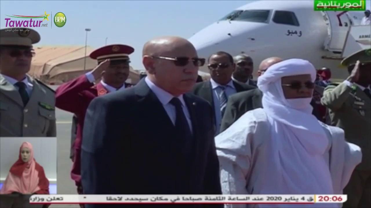 لحظة وصول رئيس الجمهورية لنيجر للمشاركة في قمة دول مجموعة الساحل G5 | قناة الموريتانية