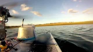 FPV Boat (DJI Motor Hydroplane Catamaran Airboat) - Wet Servo Fail