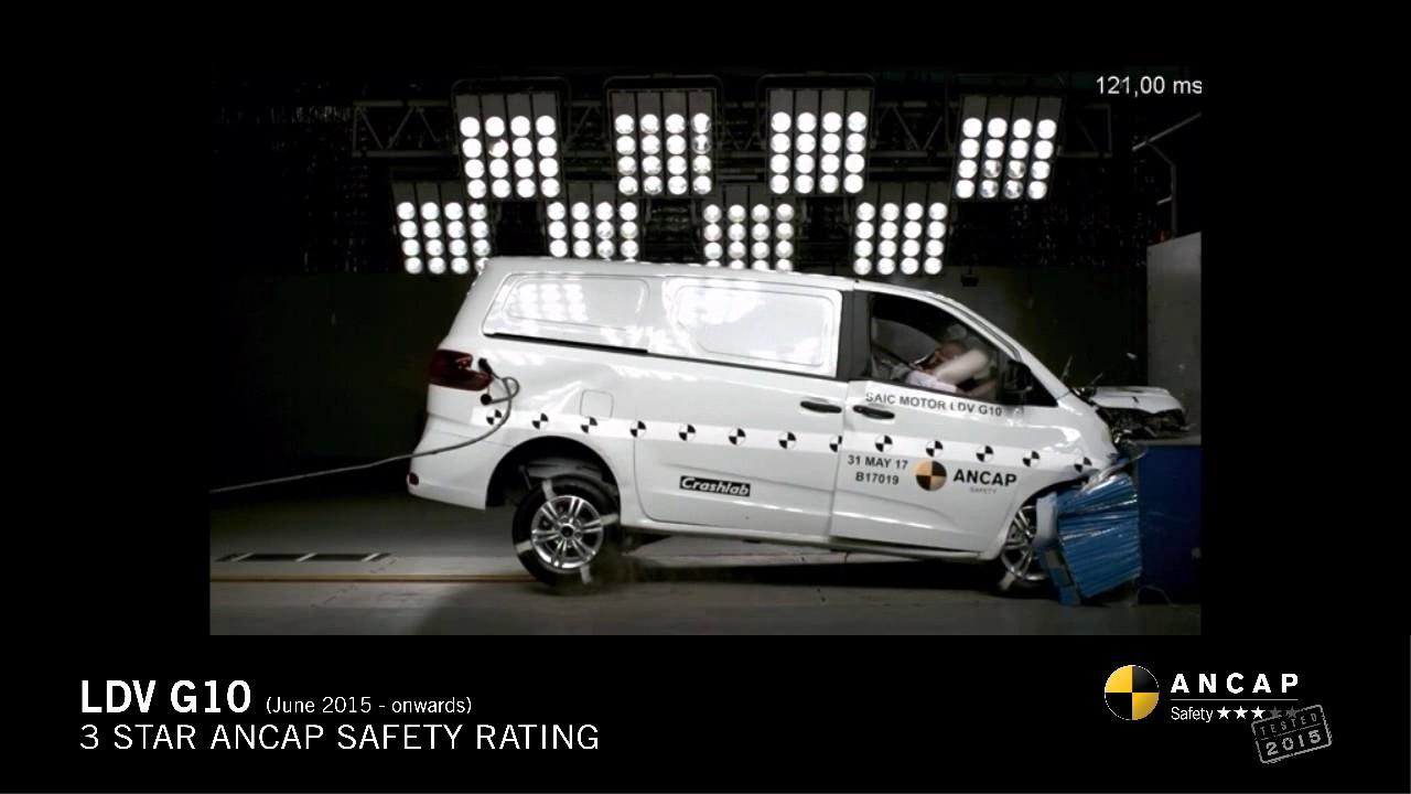f3b1475062 ANCAP SAFETY RATING  LDV G10 (June 2015 - onwards) - YouTube